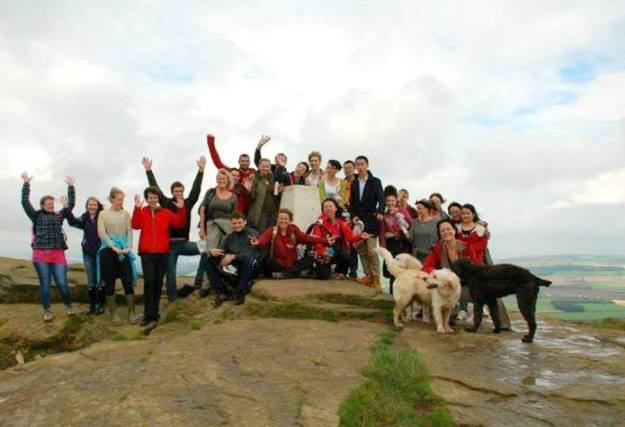 Roseberry Topping-I met new friends me front centre